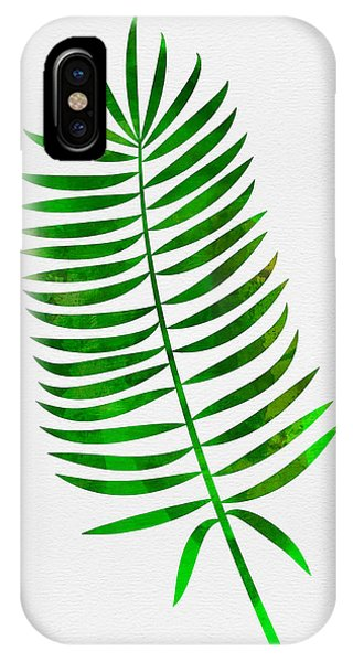 Leaf iPhone Case - Lonely Tropical Leaf I by Naxart Studio