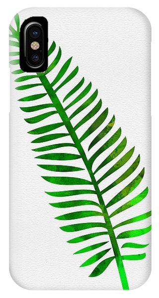 Leaf iPhone Case - Lonely Tropical Leaf II by Naxart Studio
