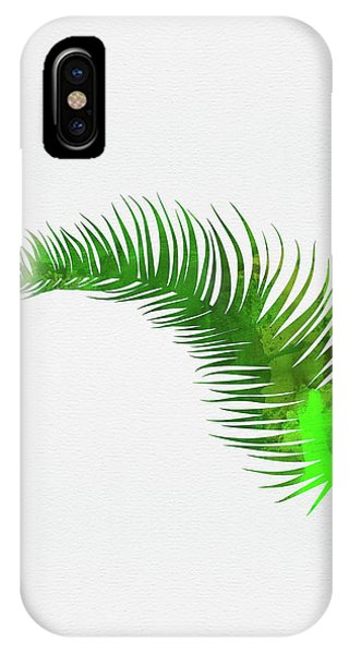 Leaf iPhone Case - Lonely Tropical Leaf by Naxart Studio