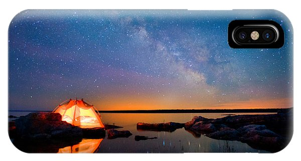 Spirituality iPhone Case - Long Exposure Of Stars by Oceanfishing