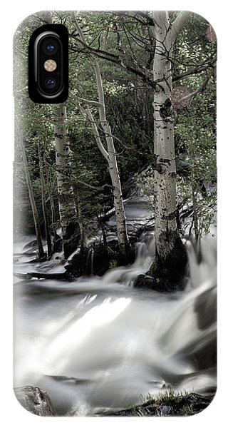 Long Exposure Shot Of A Mountain Stream IPhone Case