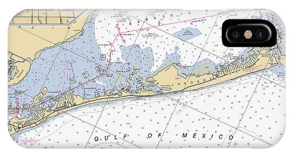 Longboat Ket Florida Noaa Nautical Chart IPhone Case