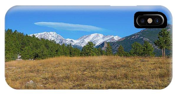 Longs Peak From Upper Beaver Meadows IPhone Case
