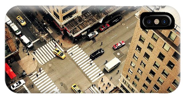 Rooftops iPhone Case - Looking Down On To The Streets Of New by Heather Shimmin