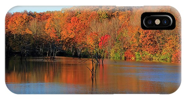 IPhone Case featuring the photograph Looking Out Over Alum Creek by Angela Murdock