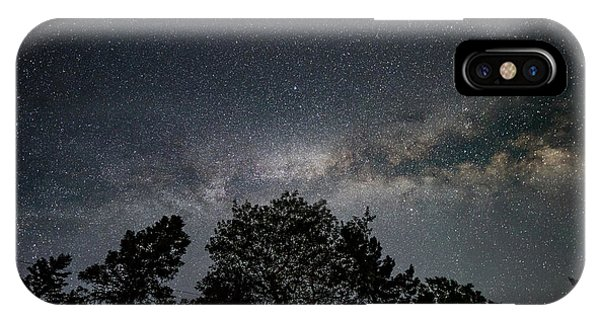 IPhone Case featuring the photograph Looking Up At The Milky Way by Darryl Hendricks
