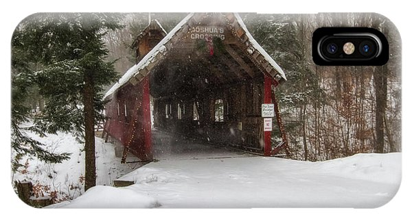 iPhone Case - Loon Song Covered Bridge 2 by Heather Kenward