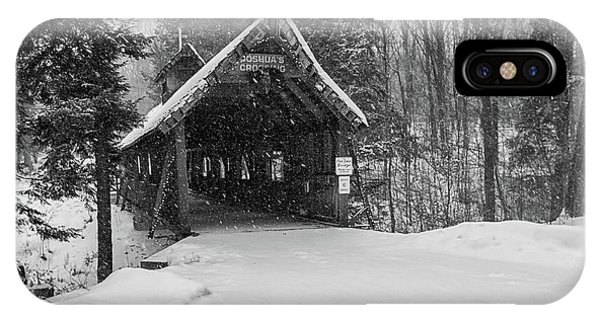 iPhone Case - Loon Song Covered Bridge 3 by Heather Kenward