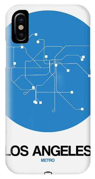 Navigation iPhone Case - San Francisco Blue Subway Map by Naxart Studio