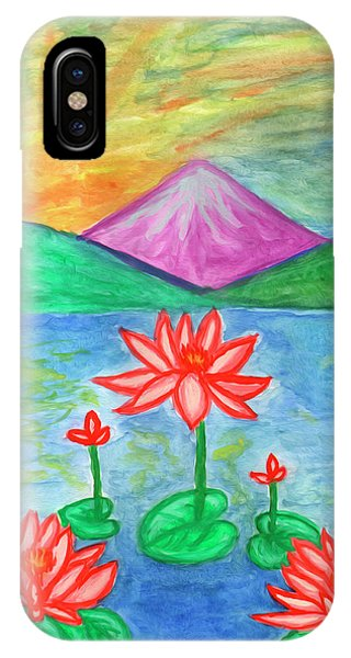 IPhone Case featuring the painting Lotuses Blooming by Dobrotsvet Art