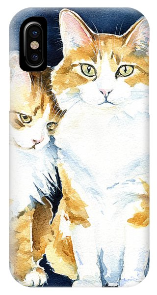 Love Me Meow Cat Painting IPhone Case