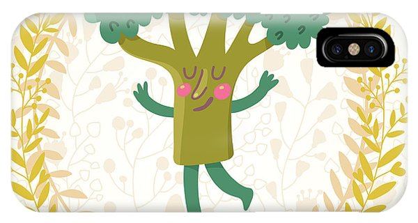 Kitchen iPhone Case - Lovely Broccoli In Funny Cartoon Style by Smilewithjul
