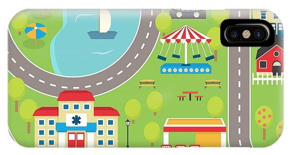 Fair iPhone Case - Lovely City Landscape Car Track by Medejaja