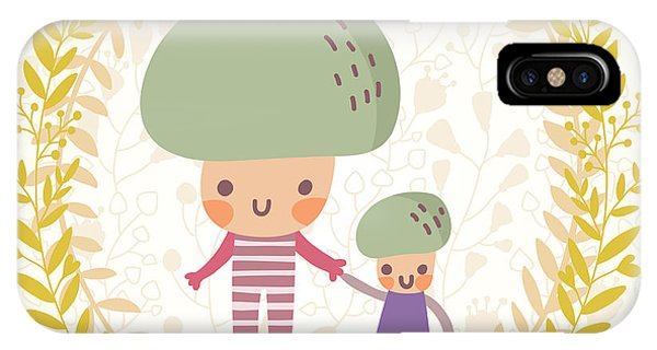 Kitchen iPhone Case - Lovely Mushroom In Funny Cartoon Style by Smilewithjul