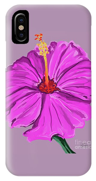Lovely Pink Hibiscus IPhone Case