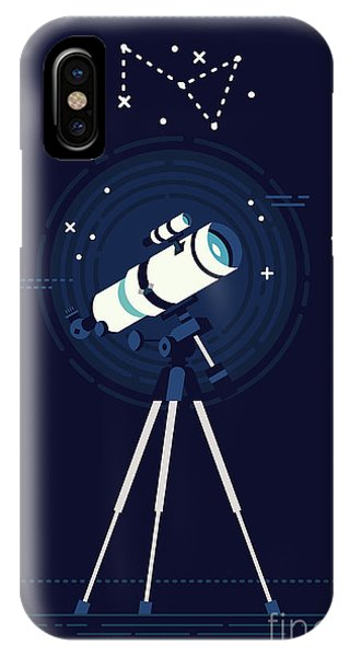 Space iPhone Case - Lovely Vector Background On Astronomy by Mascha Tace