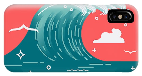 Lovely Vector Background On Large Ocean Phone Case by Mascha Tace