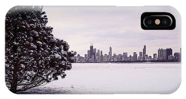 IPhone Case featuring the photograph Lovely Winter Chicago by Milena Ilieva