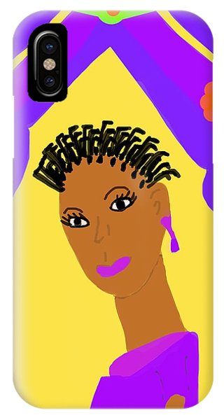 The Art Of Gandy iPhone Case - Loving Sister by Joan Ellen Gandy of The Art of Gandy