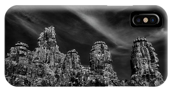 Angkor Thom iPhone Case - Low Angle View Of Ruins Of Temples by Panoramic Images