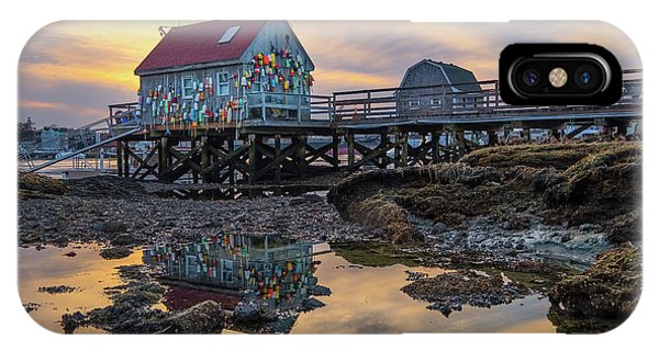 Low Tide Reflections, Badgers Island.  IPhone Case