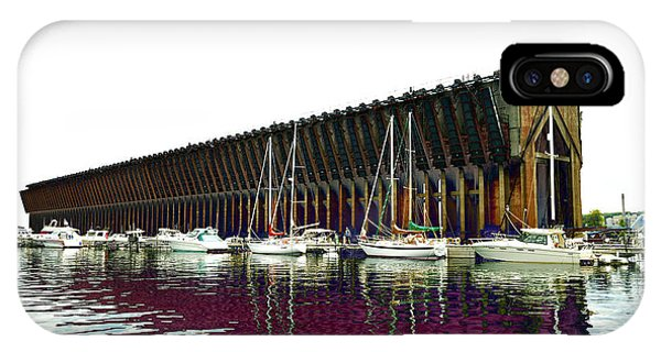 Lower Harbor Ore Dock At Marquette Michigan. IPhone Case