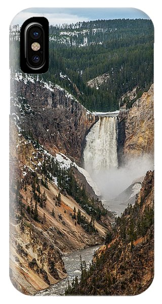 IPhone Case featuring the photograph Lower Yellowstone Falls by Matthew Irvin