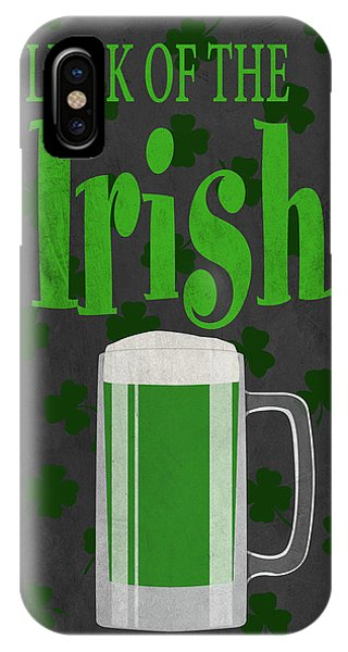 Irish iPhone Case - Luck Of The Irish (beer) II by Sd Graphics Studio