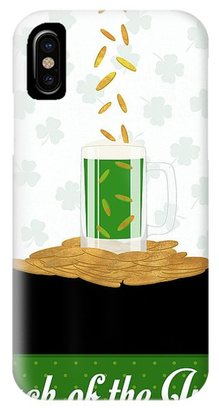 Irish iPhone Case - Luck Of The Irish (coins) II by Sd Graphics Studio