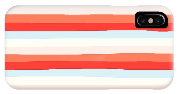 lumpy or bumpy lines abstract and colorful - QAB266 IPhone Case