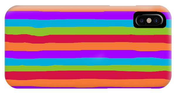 lumpy or bumpy lines abstract and summer colorful - QAB273 IPhone Case