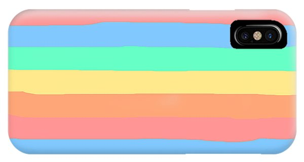 lumpy or bumpy lines abstract and summer colorful - QAB275 IPhone Case