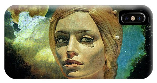 Moon iPhone Case - Luna In The Garden Of Evil by Chuck Staley