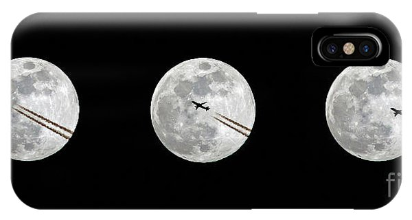 Lunar Silhouette In Sequence IPhone Case