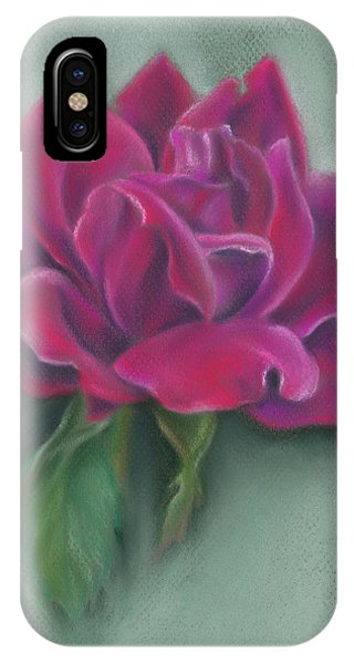 IPhone Case featuring the photograph Lush Red Rose by MM Anderson