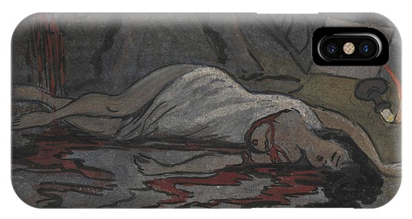 IPhone Case featuring the drawing Lust Killer by Ivar Arosenius