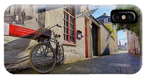 IPhone Case featuring the photograph Lux Cobblestone Road Brugge Belgium by Nathan Bush