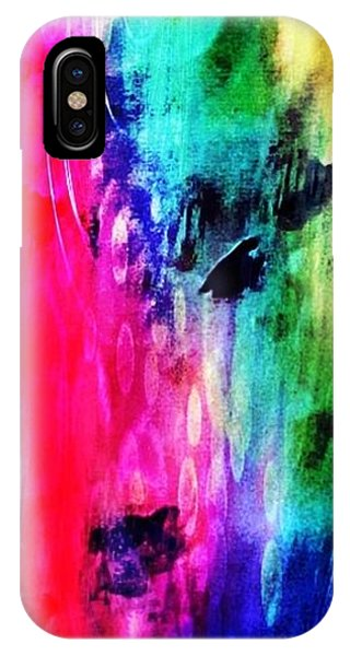 IPhone Case featuring the mixed media Luxe Splash  by Rachel Maynard