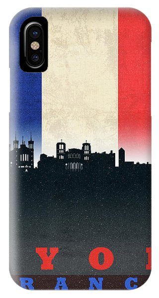 French iPhone Case - Lyon France City Skyline Flag by Design Turnpike