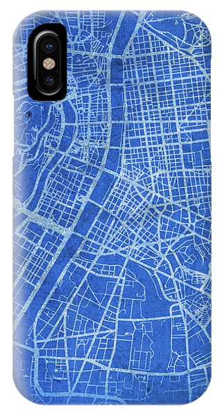 French iPhone Case - Lyon France City Street Map Blueprints by Design Turnpike