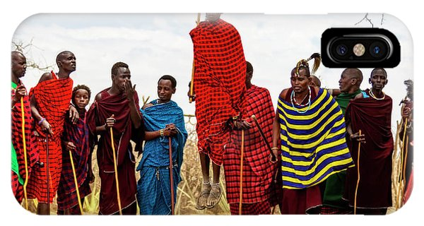 IPhone Case featuring the photograph Maasai Jumping Dance by Kay Brewer