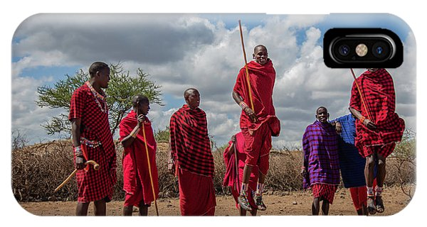 IPhone Case featuring the photograph Maasai Adumu by Thomas Kallmeyer