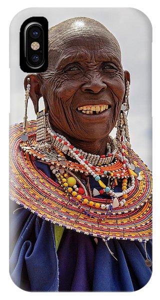 Maasai Woman In Tanzania IPhone Case