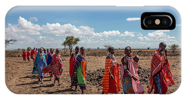 IPhone Case featuring the photograph Maasi Women by Thomas Kallmeyer