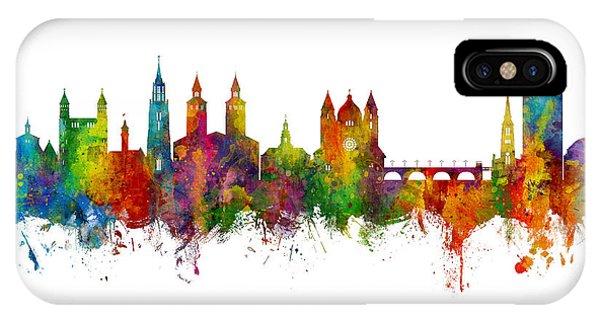 Holland iPhone Case - Maastricht The Netherlands Skyline by Michael Tompsett