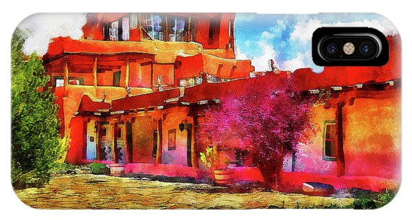 Mabel's Courtyard In Aquarelle IPhone Case