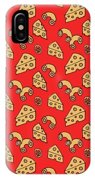 Mac And Cheese Pattern IPhone Case