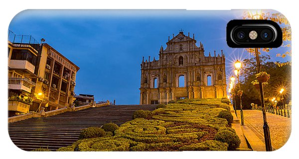 Dusk iPhone Case - Macau Ruins Of St. Pauls. Built From by Vichie81