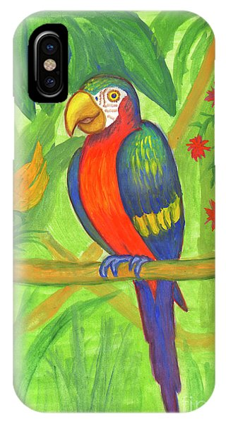 Macaw Parrot In The Wild IPhone Case
