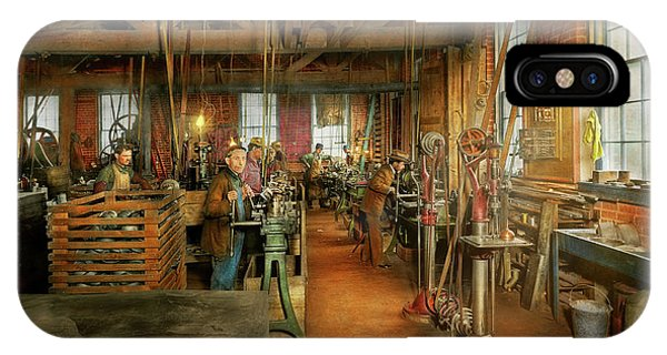 IPhone Case featuring the photograph Machinist - The Glazier Stove Company 1900 by Mike Savad